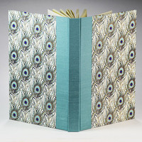 Blank Book Lined Paper Journal TEAL PEACOCK