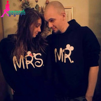 "His & Hers ""MR and MRS"" Hoodie Sweatshirts"