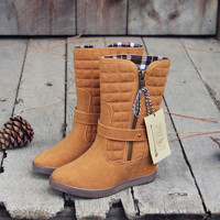 The Pinecone Plaid Booties