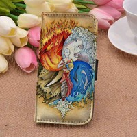 Avatar   The Last Airbender Elements   art   CUSTOM PERSONALIZED wallet case for iphone 4,4s,5,5s,5c,6 and samsung galaxy s3,s4,s5