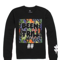 Been Trill Whither Multi Crew Fleece - Mens Hoodie - Black