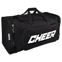 Large Deluxe Sports Duffle Bag with 2-Color Cheerleader Imprint