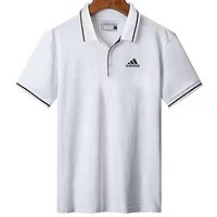 ADIDAS 2019 new casual sports lapel half-sleeved polo shirt white