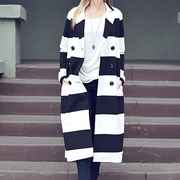 Classic Stripes Trench Coat