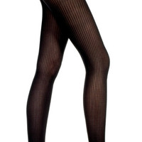 Opaque Ribbed Tights