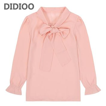 Toddlers Chiffon Blouses For Girls Long Sleeve Shirts Autumn Tops Baby Clothes