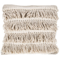 Natural Cotton Fringe Pillow | Hobby Lobby | 5157565