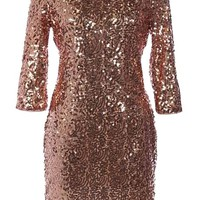 Paparazzi Fever Dress   Copper Sequin Party Dresses   Rickety Rack