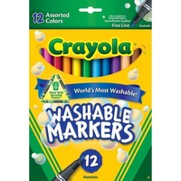 Crayola Washable Markers 12 Ct Asst