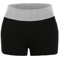 LE3NO Womens Basic Lightweight Active Colorblock Foldover Shorts (CLEARANCE)
