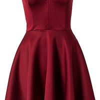 Bone Detail Skater Dress, Club L