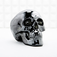 Electroplated Skull Money Bank in Black - Urban Outfitters