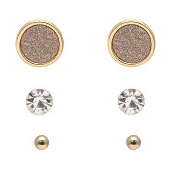 Sunburst Stud Earrings Set