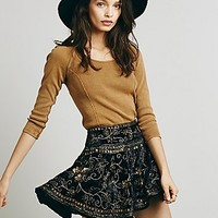 Free People Womens Little Layla Velvet Mini - Black