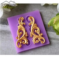 3D Cake Border Decoration Silicone Mold Fondant Mold Cutting Dies Cake Decorating Tools Chocolate Gumpaste Clay Mould