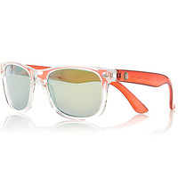River Island Boys red clear retro sunglasses