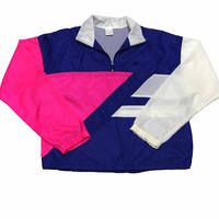 Vintage 90s Nike Pink/White/Blue Windrunner Jacket Mens Size Medium - Default Title