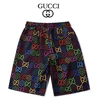 Gucci spring and summer new fashion trend print casual reflective ribbon men's and women's sports loose shorts