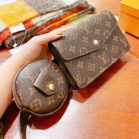 Louis Vuitton LV  Fashion Women Leather Chest Bag Shoulder Bag Set Two Piece