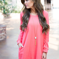 All the Bright Moves Dress Coral