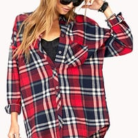 Rustic Longline Plaid Flannel