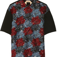 No. 21 - Sequin-embellished woven top
