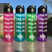 Motivational Water Bottle // Water Intake Tracker // 24 oz Plastic Bottle with Spout // Add Name or Monogram or Saying // CUSTOM COLORS