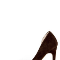 D'Orsay the Word Brown Suede D'Orsay Pumps