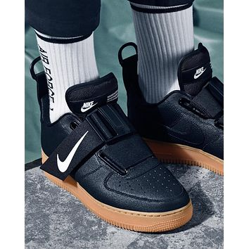 Nike Air Force 1 Utility QS Black low-top sneakers shoes