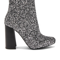 Jeffrey Campbell Stratford 3 Booties in Pewter Glitter