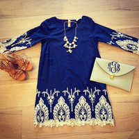 Casual Lace Embroidered Edge Half Sleeve Blouse
