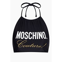 Moschino Couture High Neck Bikini Top - Black
