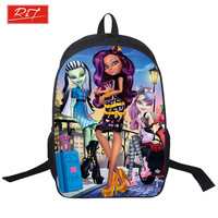 Young Women Anime Monster High Backpack Girls Cartoon My Little Pony Backpacks School Bags Daily Backpack For Teenagers Bag