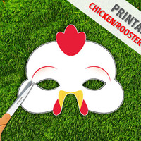 Chicken Printable Mask   Rooster Printable Mask   Chinese New Year