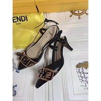 Fendi Summer Classic Fashion Men Women Slipper Sandals Shoes