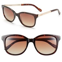 Women's Polaroid Eyewear 52mm Retro Sunglasses - Havana Gold