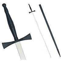 """Masonic Sword with Black Hilt and Black Scabbard 35 3/4"""" + Free Case"""