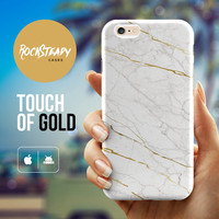 White Marble iPhone 6 case, White and Gold iPhone 6 Plus case, Marble iPhone case, iPhone 5s Case, iPhone 5C case, Samsung S5 case marble