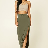 Surplice Maxi Skirt