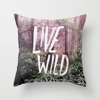 Live Wild: Oregon Throw Pillow by Leah Flores
