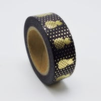 Black Pineapple Washi Tape with Metallic Gold (Wanelo Special)