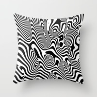 Trippy Background Throw Pillow by Danny Ivan | Society6