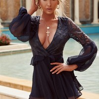 Listen To Your Heart Playsuit (Navy)