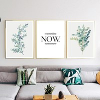 Succulent Plants Cactus Nordic Poster Flowers Cuadros Decoracion Wall Pictures For Living Room Wall Art Canvas Painting Unframed