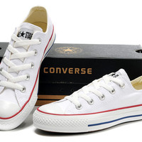 """Womens White """"Converse"""" Fashion Canvas Flats Sneakers Sport Shoes"""