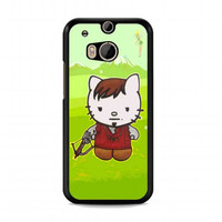 Cute Daryl Dixon Hello Kitty The Walking Dead For HTC One M8 case