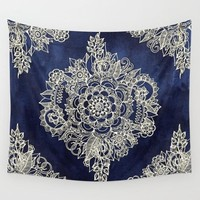 Mosaic Style Tapestry Morocco Bohemian Flower Wall Decoration Datura