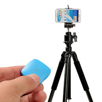 Mini Square Bluetooth Remote Camera Shutter for iPhone + Android - Blue