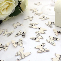 Paper butterfly wedding confetti- 200 vintage sheet music die cut punched butterflies 2cm by 2cm- Great romantic table decoration