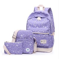 Sports gym bag 2018 new college wind 8-color outdoor sports backpack three-piece kit girl bag multi-function mobile phone computer backpack KO_5_1